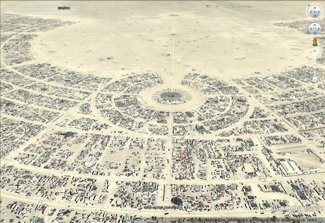 Burning Man 2013 - Google Earth Blog
