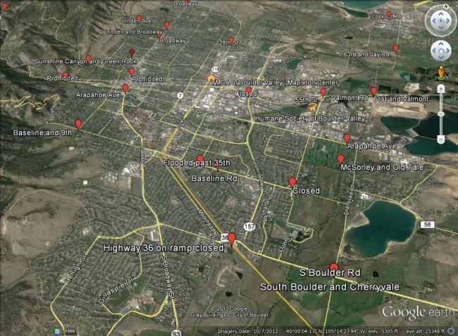 Google publishes Crisis Response map for Boulder, Colorado - Google Earth Blog