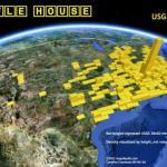 Waffle House locations visualized on Google Earth