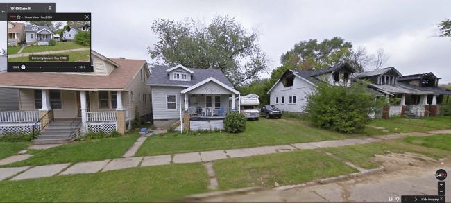 detroit street view