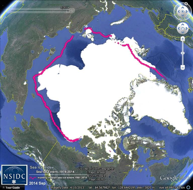 Arctic sea ice extent Sept 2014