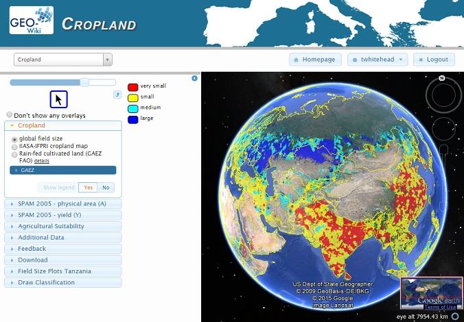 GeoWiki Cropland field sizes map