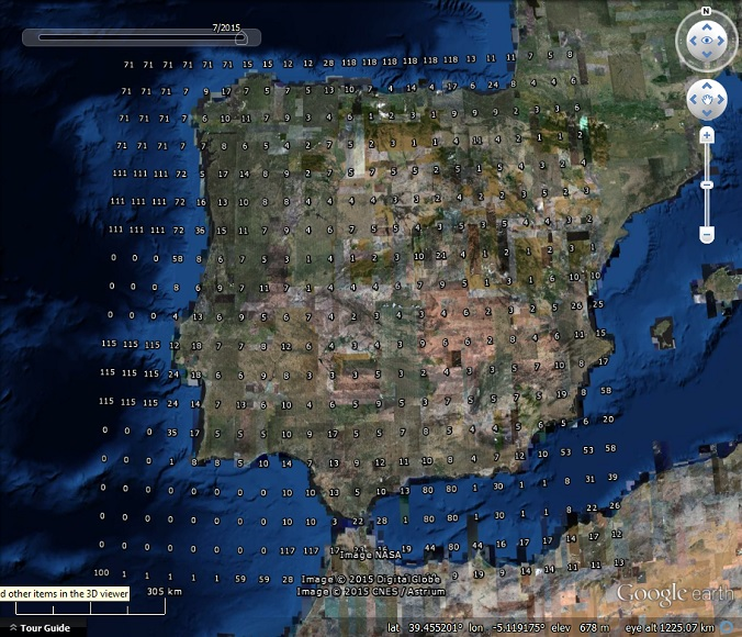 Google Earth Map Of Spain.Historical Imagery Density In Google Earth Part 1 Google Earth Blog