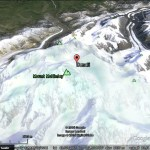 Google Earth search vs Google Earth placemarks and street data
