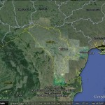 Moldova stands out in Google Earth