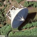 Radio Telescopes in Google Earth