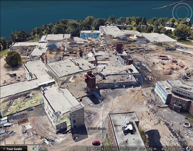 Two stages of construction in Google Earth 3D imagery | My