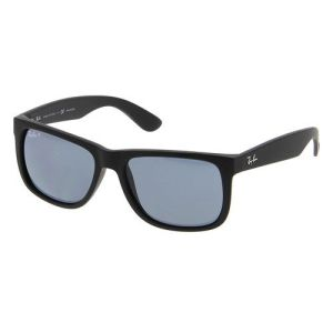 Ray-Ban Rb4165 622/2v Justin Black Frame Polarized Blue Lens 55mm Sunglasses
