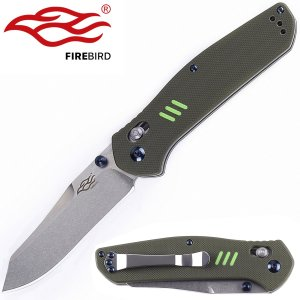 Knife Firebird F7562 by Ganzo G7562 Pocket Folding Hunting Knife G-10 Handle SS Blade