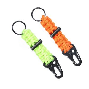 EDC Paracord Lanyard Keychains - 2 Pack of Survival Kit