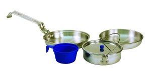 Texsport 5 Piece Heavy Duty Aluminum Outdoor Camping Cookware Mess Kit