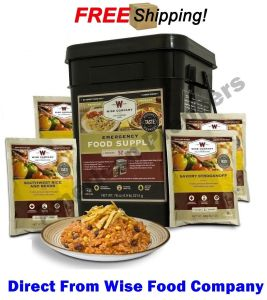 "Wise Food Company 52 Servings Emergency Food Supply ""Prepper Pack"""