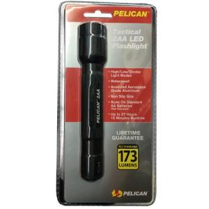 Pelican Tactical 2AA LED Flashlight, 173 Lumens High, 15 Lumens Low, Black