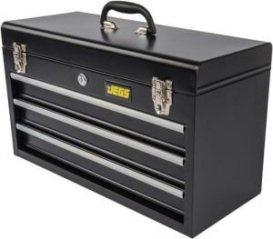 JEGS Performance Products 81400 Black 3 Drawer Tool Box