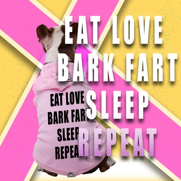 EAT LOVE BARK FART SLEEP REPEAT COVER PIC