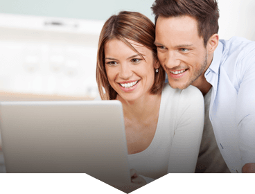 Couple happy about how it is to book online