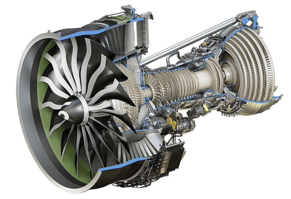 medium resolution of ge9x engine cutaway