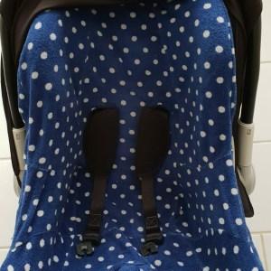 ISI Mini Autostoelhoes Marineblauw Met Zilveren Stippen