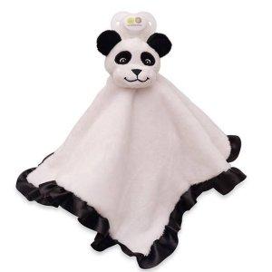 Nookums Paci-Plushies Fopspeen Blankies Paisley de Panda