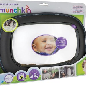 Munchkin baby in sight mirror