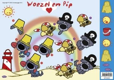 Woezel en Pip Regenboog Piraat