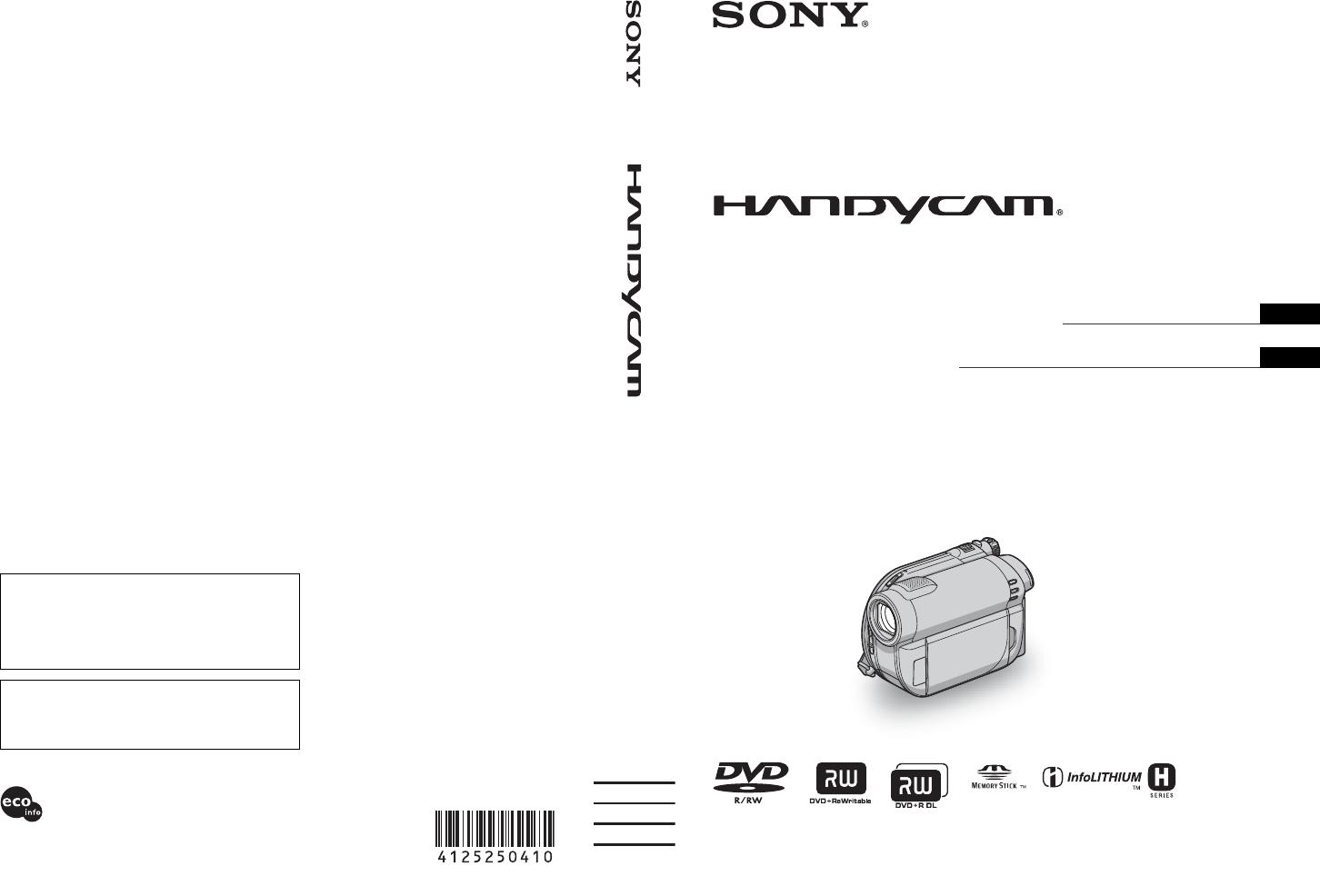 Handleiding Sony dcr dvd650 (pagina 1 van 279) (Deutsch