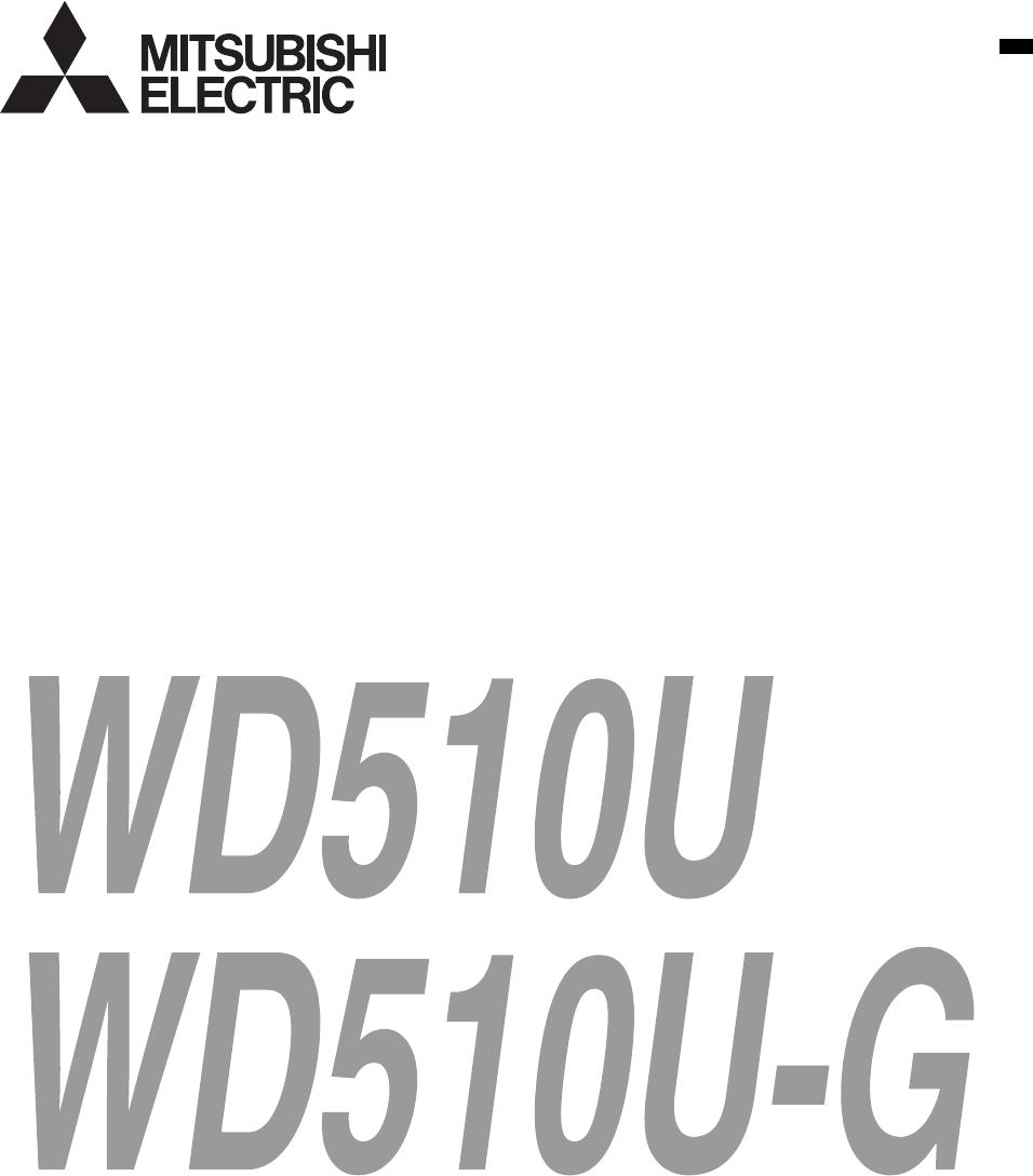 Handleiding Mitsubishi WD510U (pagina 1 van 35) (English)
