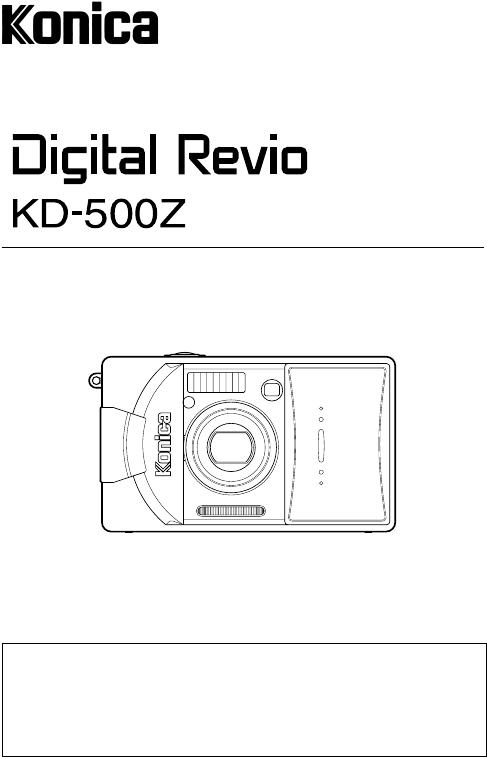 Handleiding Konica revio kd 500 z (pagina 1 van 125) (English)