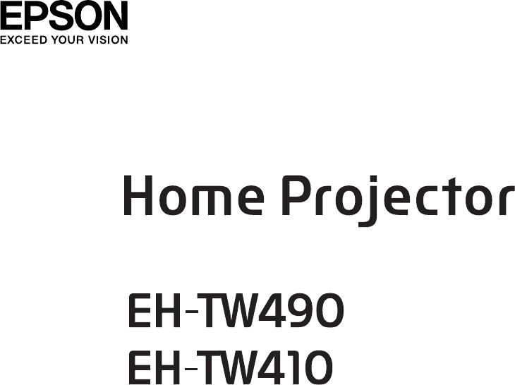 Handleiding Epson EH-TW490 (pagina 1 van 127) (English)
