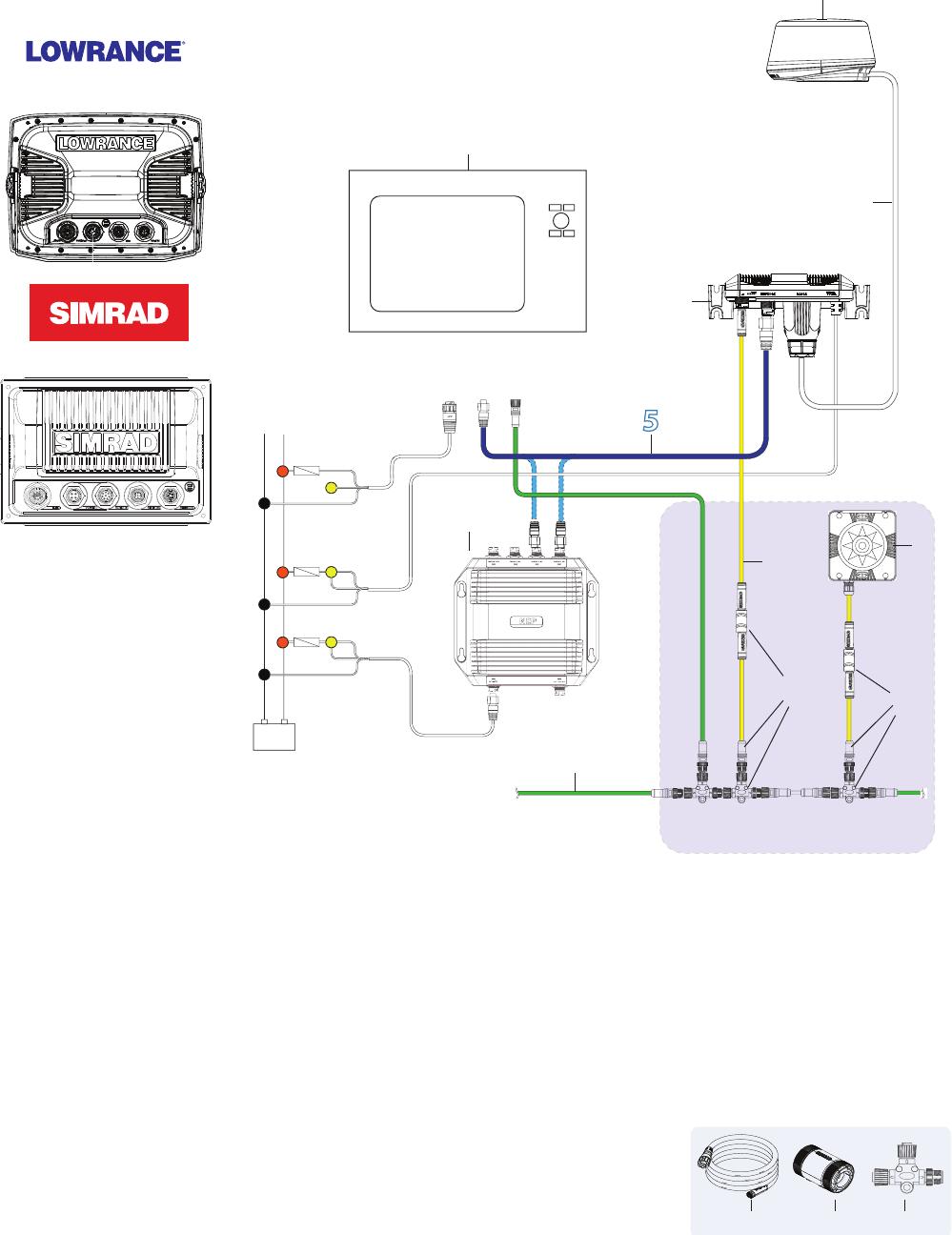 medium resolution of wiring network a simrad