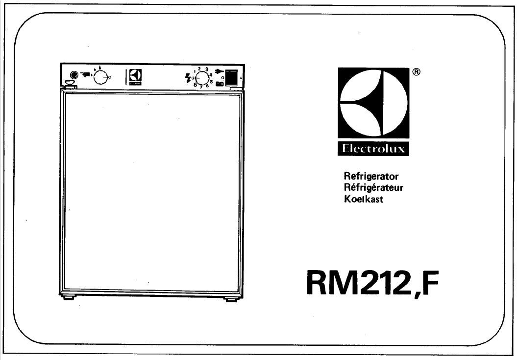 electrolux rm212 wiring diagram ford truck diagrams handleiding pagina 1 van 5 english