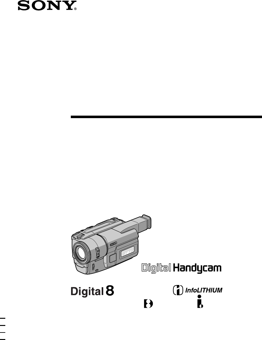 Handleiding Sony DCR-TRV110E (pagina 1 van 120) (Français