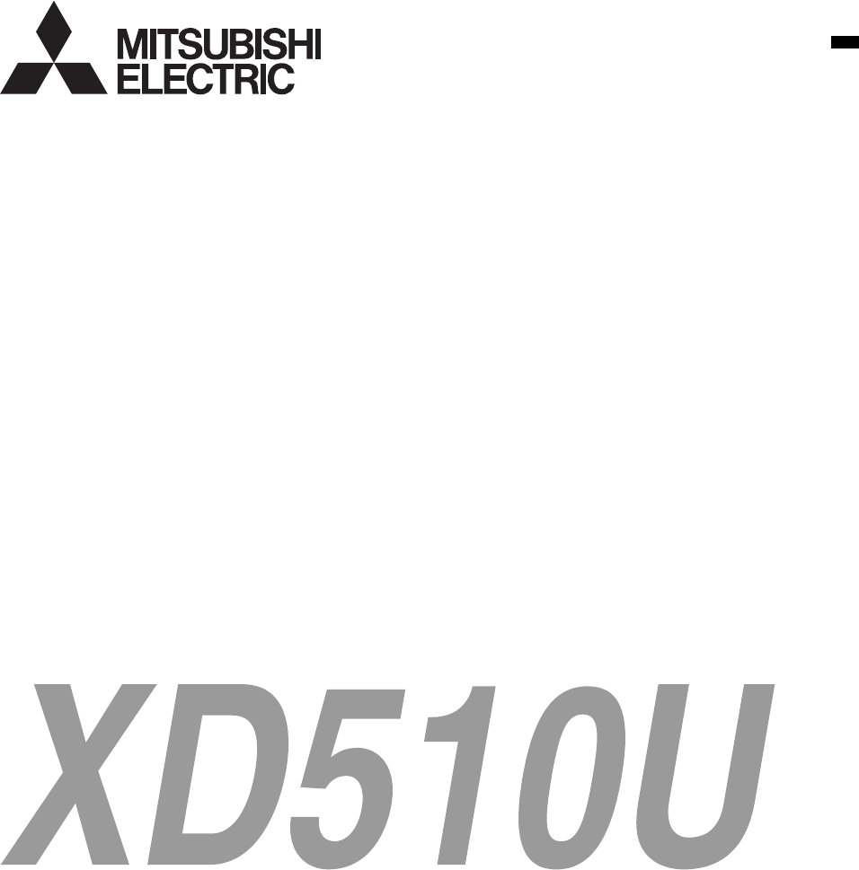 Handleiding Mitsubishi XD510U (pagina 1 van 35) (English)