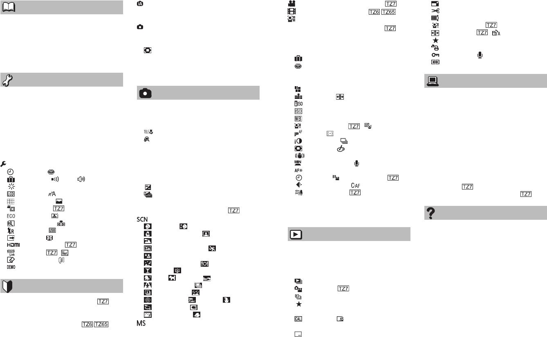 Handleiding Panasonic DMC-TZ7 (pagina 4 van 64) (Nederlands)