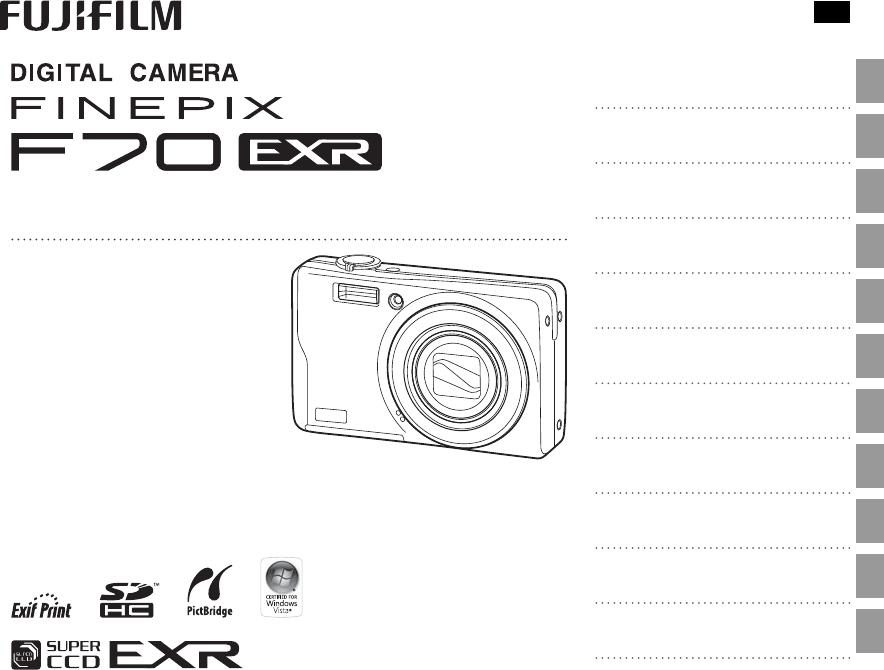Handleiding Fujifilm finepix f70exr (pagina 1 van 125