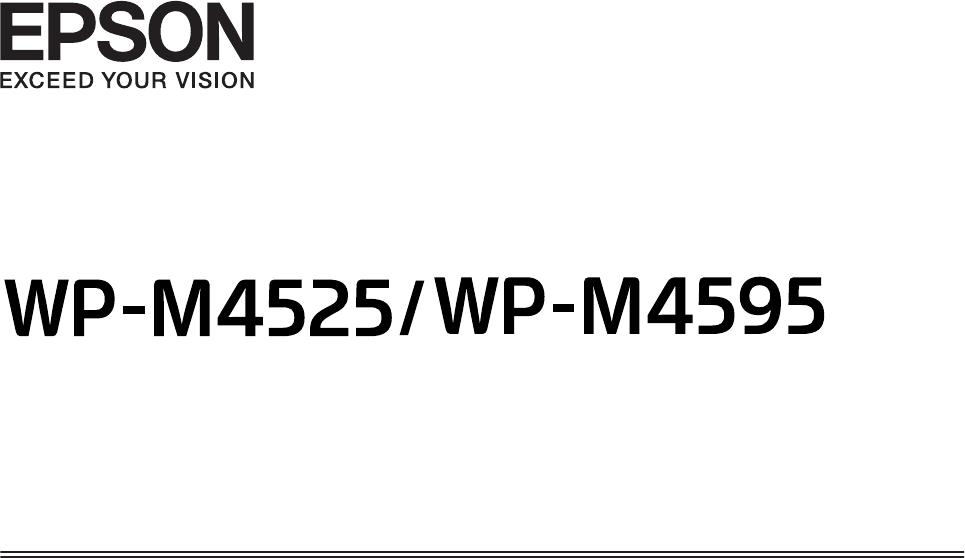 Handleiding Epson WP-M4595 (pagina 1 van 203) (English)