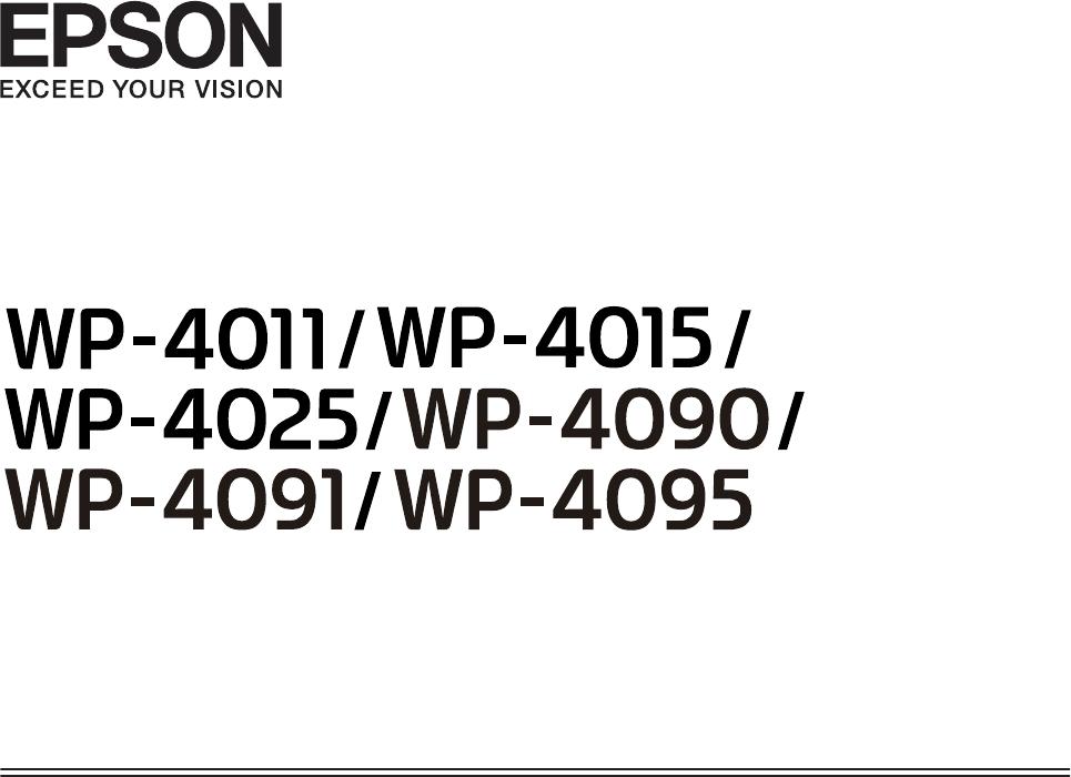 Handleiding Epson WORKFORCE PRO WP4015 (pagina 1 van 134