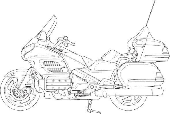 Handleiding Honda GL1800 GOLDWING 2009 (pagina 1 van 296