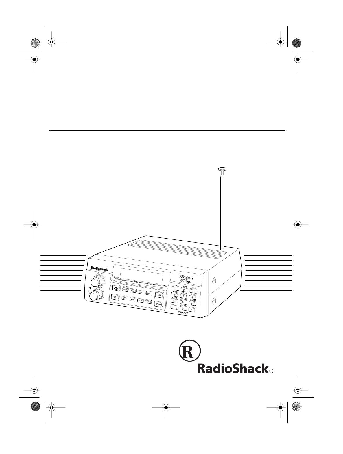 Handleiding RadioShack Realistic PRO-2050 (pagina 1 van 56