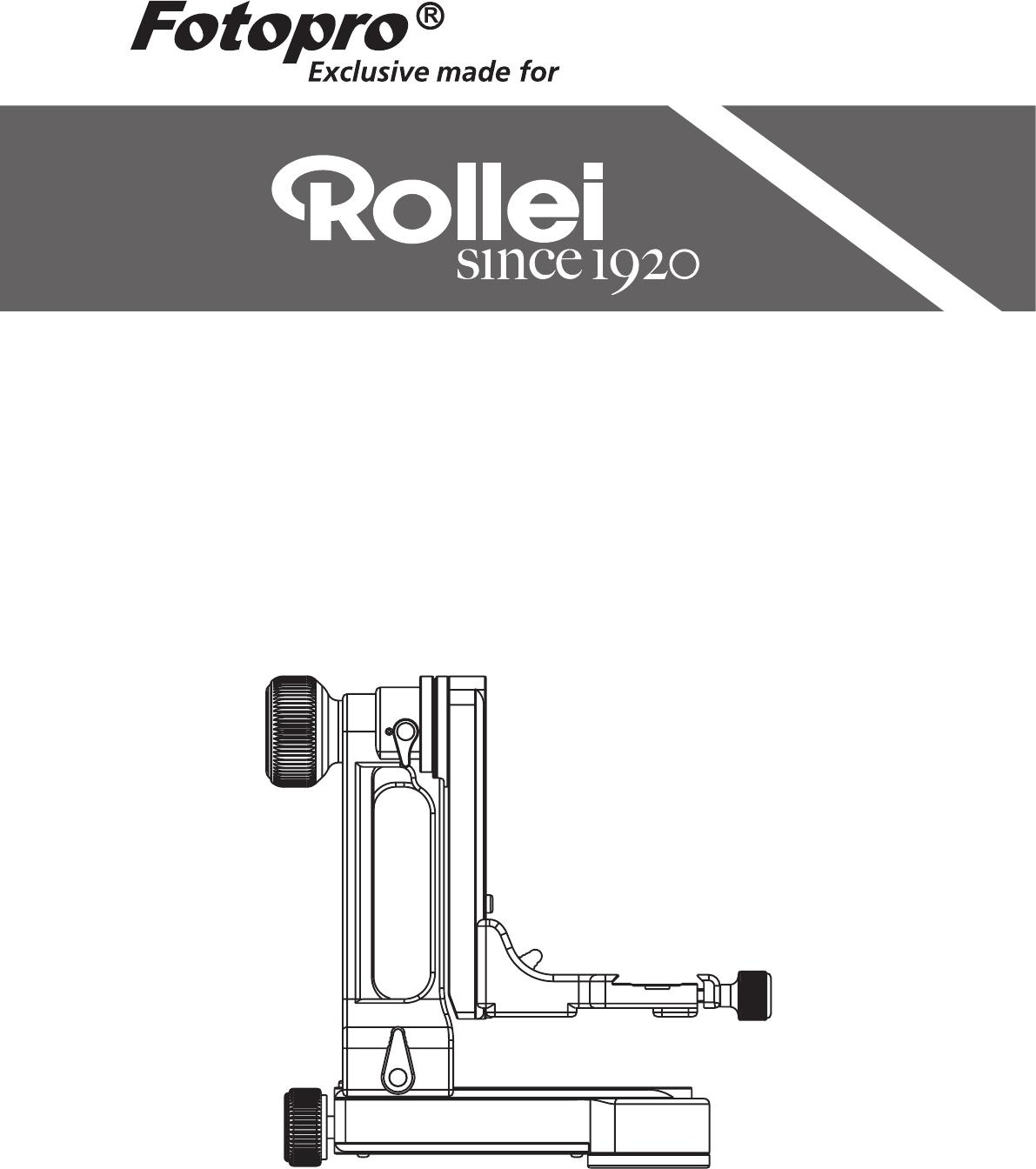 Handleiding Rollei WH-10 Gimbal (pagina 1 van 4) (Deutsch