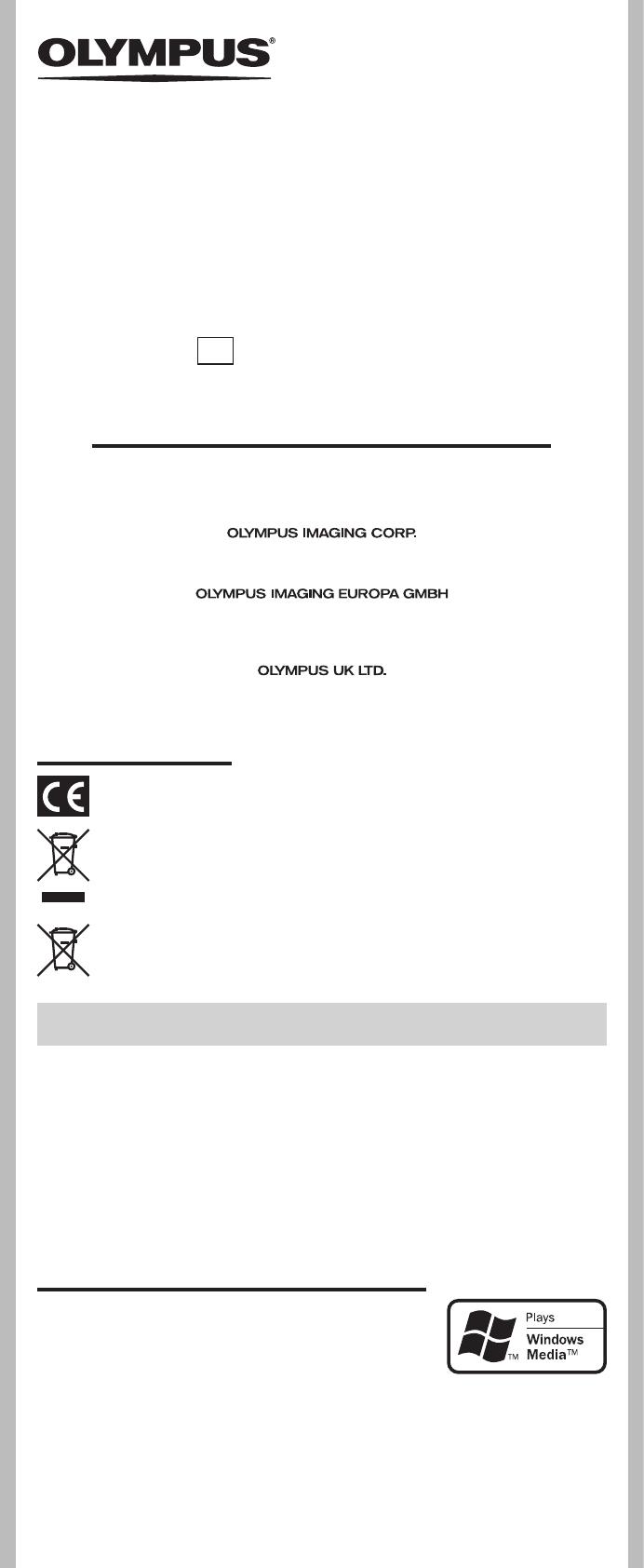 Handleiding Olympus VN-5500PC (pagina 1 van 12) (Nederlands)