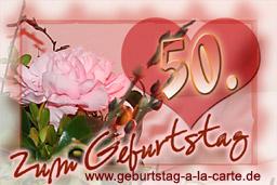 Geburtstagskarten Zum Ausdrucken 50 Geburtstag