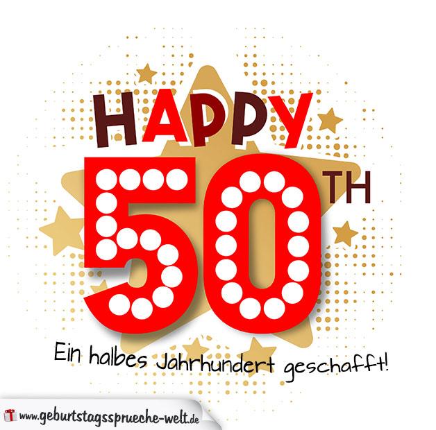 Geburtstagsgrüße Als Karte Zum 50 Geburtstag