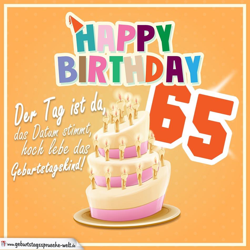 65 Geburtstag Geburtstagssprüche Happy Birthday