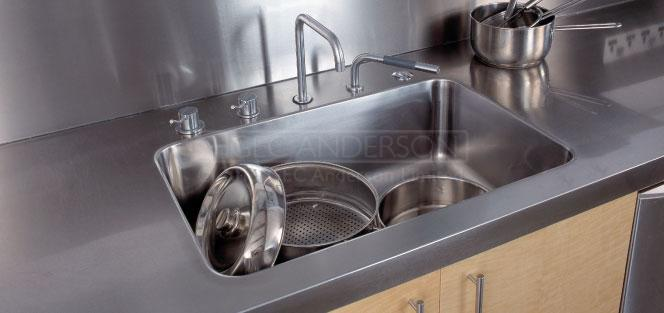 Industrial Stainless Steel Sinks Fully Integrated Sinks
