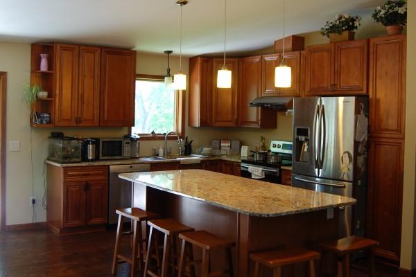 Elegant Walnut Kitchen Cabinets From GEC Cabinet Depot
