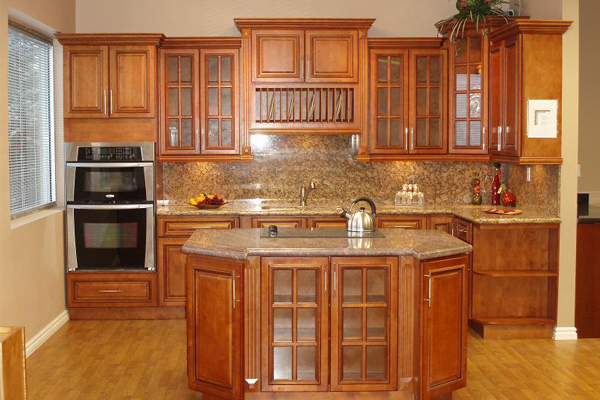 Glazed RTA Maple Kitchen Cabinets in Minnesota USA