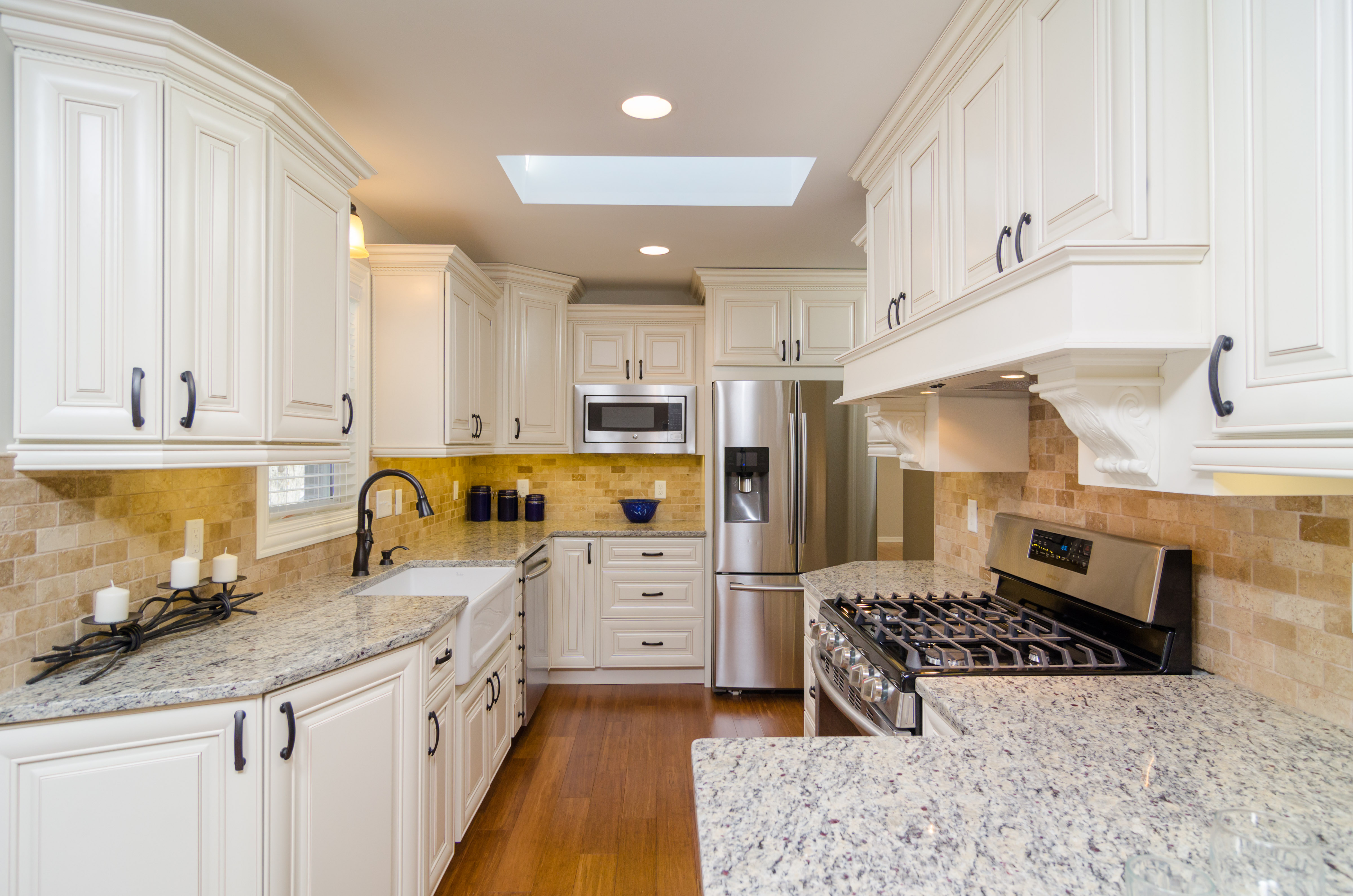 Say Hi to a Classic White Kitchen with Unique Cabinets
