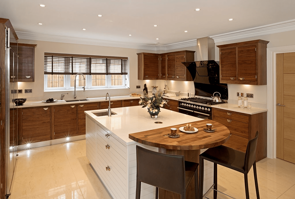 Take time to learn about different cabinet styles and materials before making your final selections. Design A Mid Century Kitchen With Walnut Cabinets From Gec Cabinet Depot
