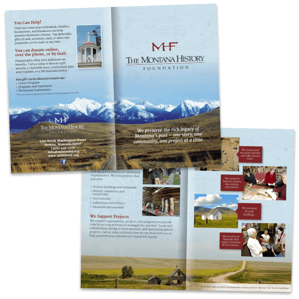 Montana History Foundation Bifold Brochure - Gecko Design